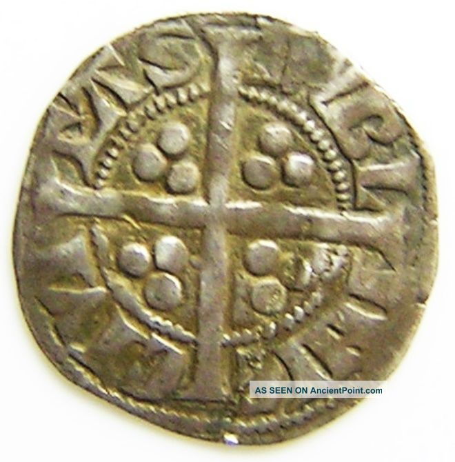 Medieval Irish Silver Penny Of King Edward Ist Dublin 1279 - 1302 A.  D. British photo