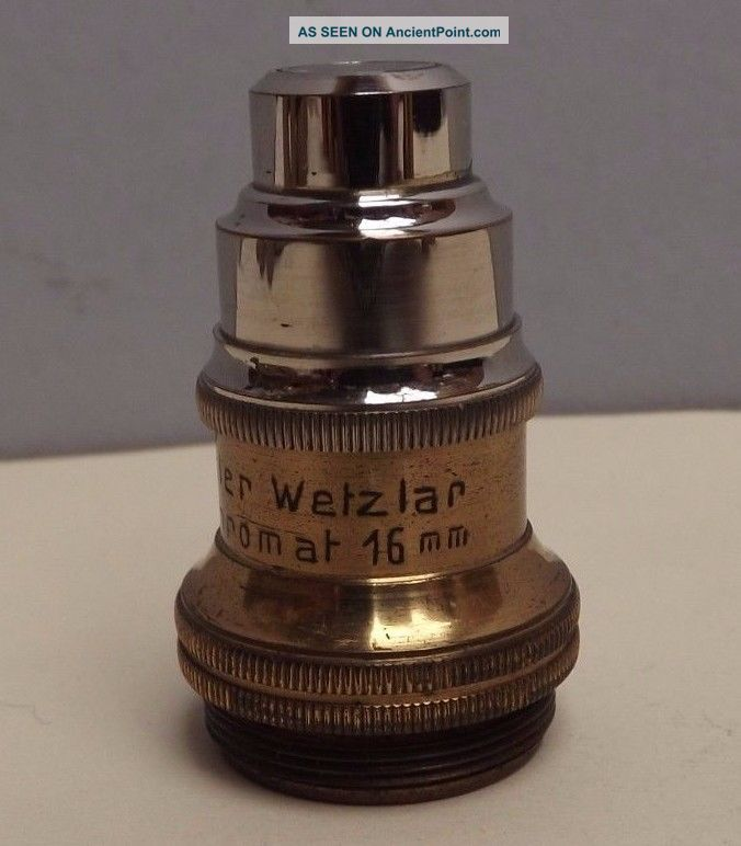 Microscope [ Objective ] H.  Oehler { Brass } 16 Mm [ German Silvered ] Fine Other Antique Science Equip photo