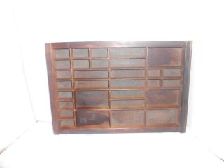 Vintage 30 Compartment Wood Printer ' S Typeset Drawer 14 1/4 X 16 1/2