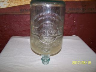 Vintage Quaker Manufacturing Range Heater Burnoil Kerosene Glass Jug / Bottle photo