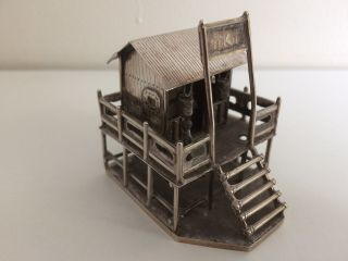 Antique Chinese Silver Miniature Of A Chinese Dwelling - Tuck Chang 1870 - 1920 photo