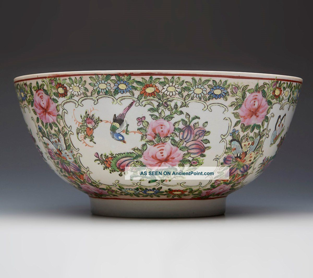 Antique Chinese Famille Rose Bowl Xianfeng Mark 19th/20th Century Bowls photo
