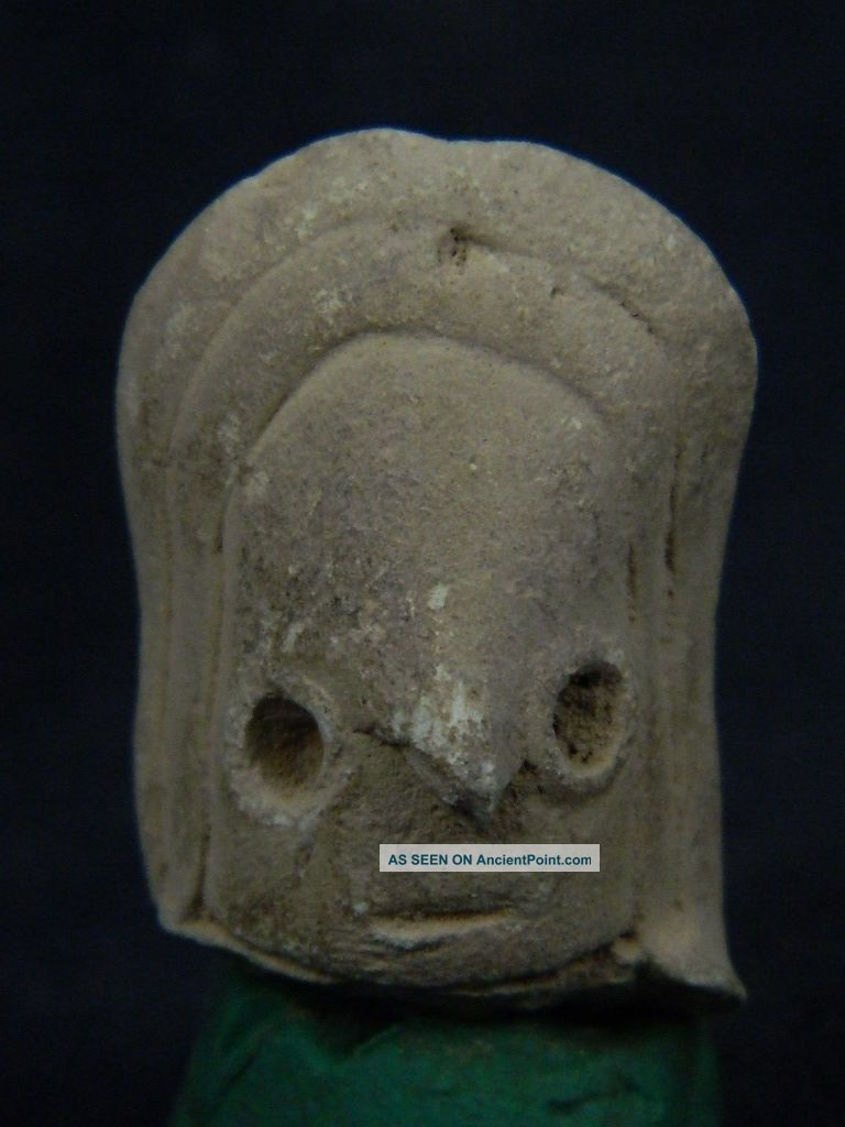 Ancient Teracotta Mother Goddess Head Indus Valley 2000 Bc Tr475 Roman photo