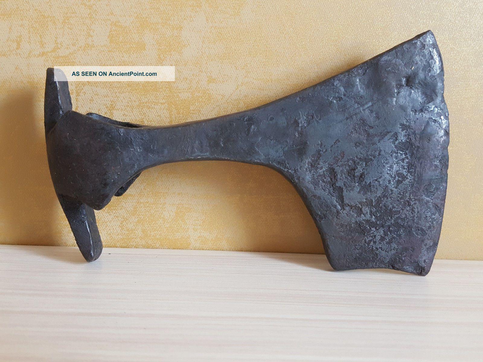 Ancient Iron Viking Battle Axe (16.  5 Cm,  604 G) Viking photo