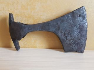 Ancient Iron Viking Battle Axe (16.  5 Cm,  604 G) photo