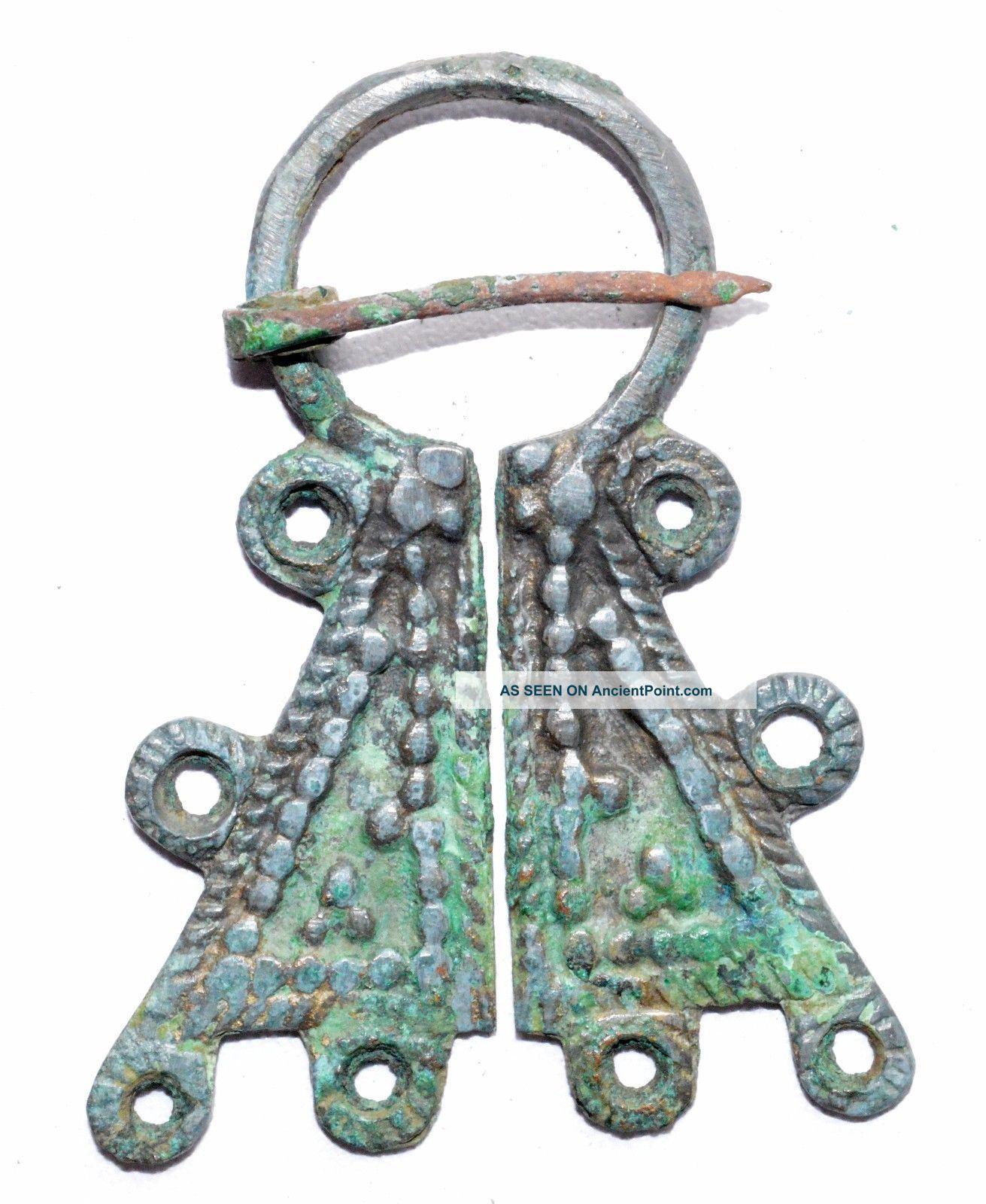 Lovely Viking Bronze Penannular Brooch / Fibula - Historical Gift - St54 Roman photo