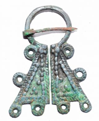 Lovely Viking Bronze Penannular Brooch / Fibula - Historical Gift - St54 photo