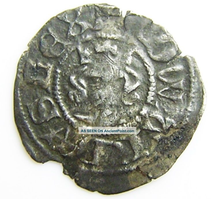 Medieval Silver Halfpenny Of King Edward Iii Minted London 1344 - 1351 A.  D. British photo