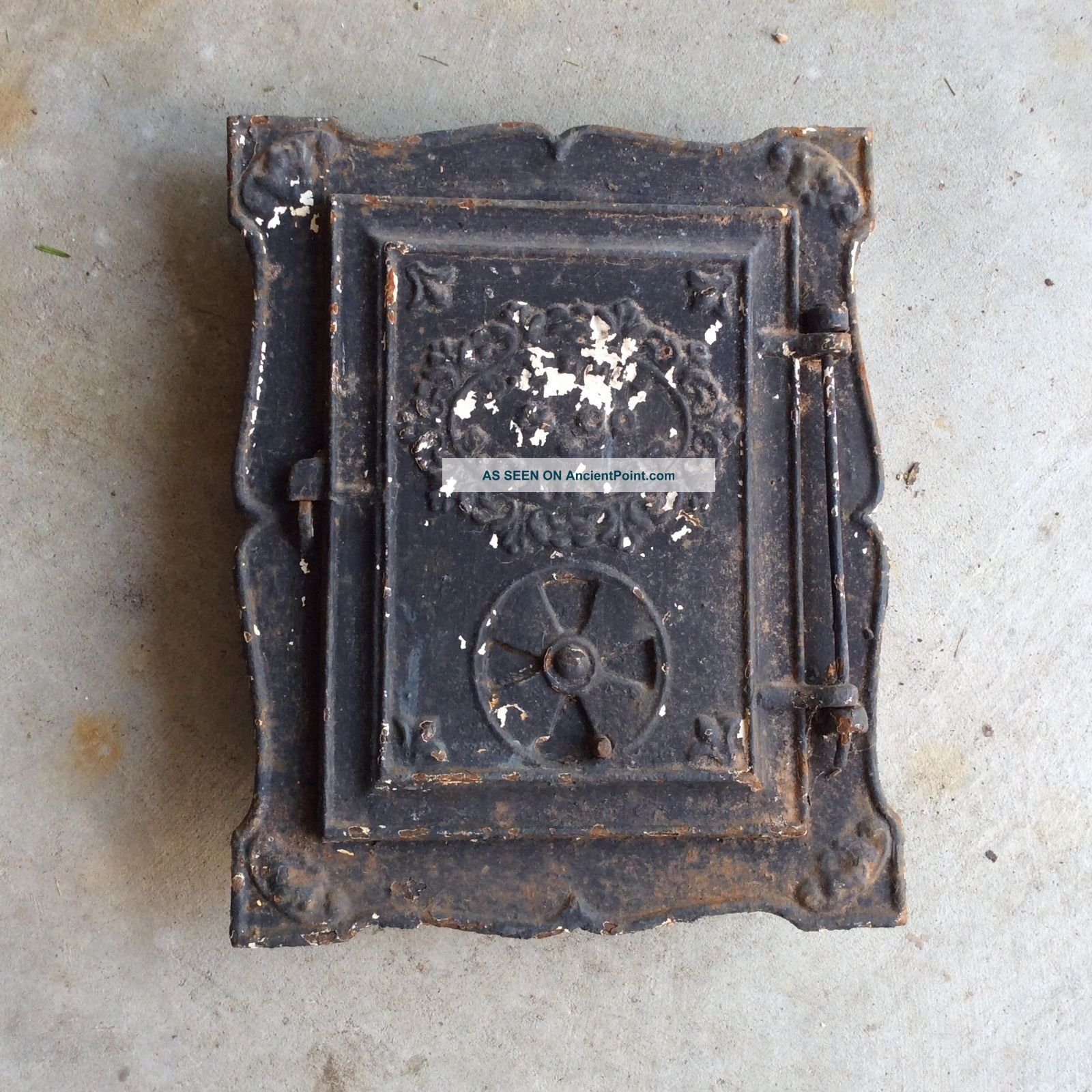 Antique Cast Iron Wood Stove Door Bee Hive Benjamin Ellis Carver Ma C1812 - 1856 Stoves photo