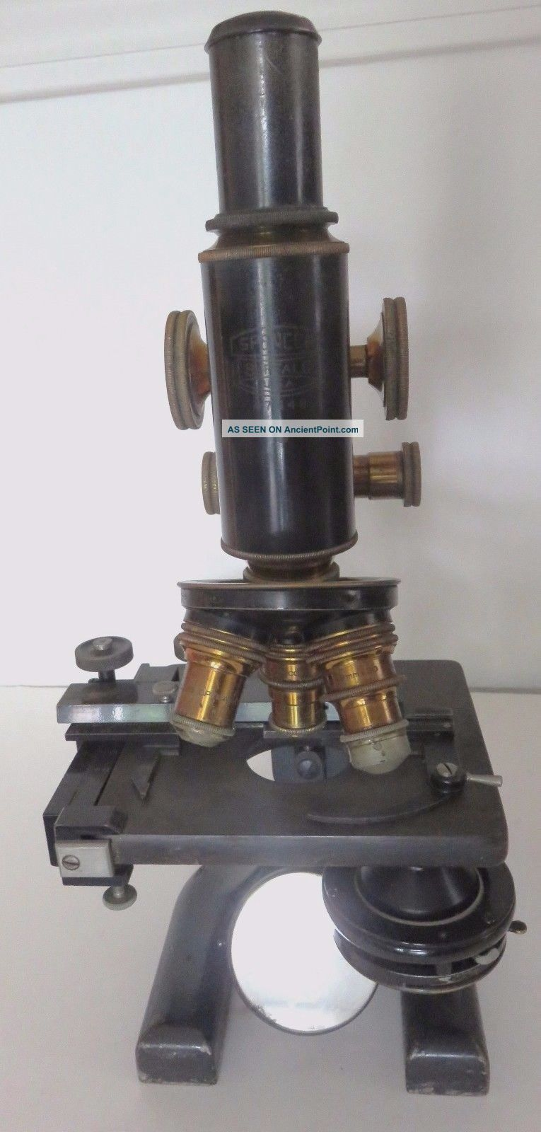 Vintage Antique Spencer Monocular Microscope W/ Wooden Case Circa 1900 Microscopes & Lab Equipment photo