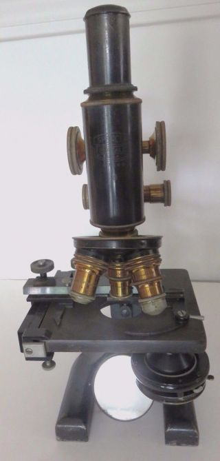 Vintage Antique Spencer Monocular Microscope W/ Wooden Case Circa 1900 photo
