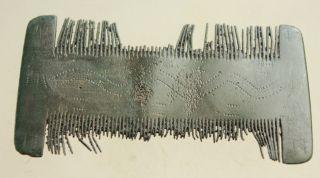 L6 Ancient Roman Bronze Hair Comb L=70x35mm 20g Very Rare photo