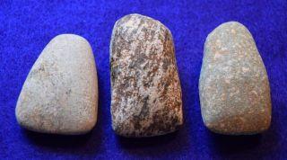 3 Medium Sized Hard Stone Celts From The Sahara Neolithic photo