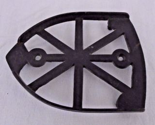 Vintage Sad Flat Iron Rest Trivet photo
