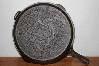 Griswold Erie Size 12 Large Cast Iron Skillet P/n 719 Circa 1920 ' S Heat Ring photo
