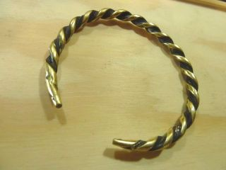 Antique Hand Crafted Bronze Viking Bracelet 23,  11 Gr. photo