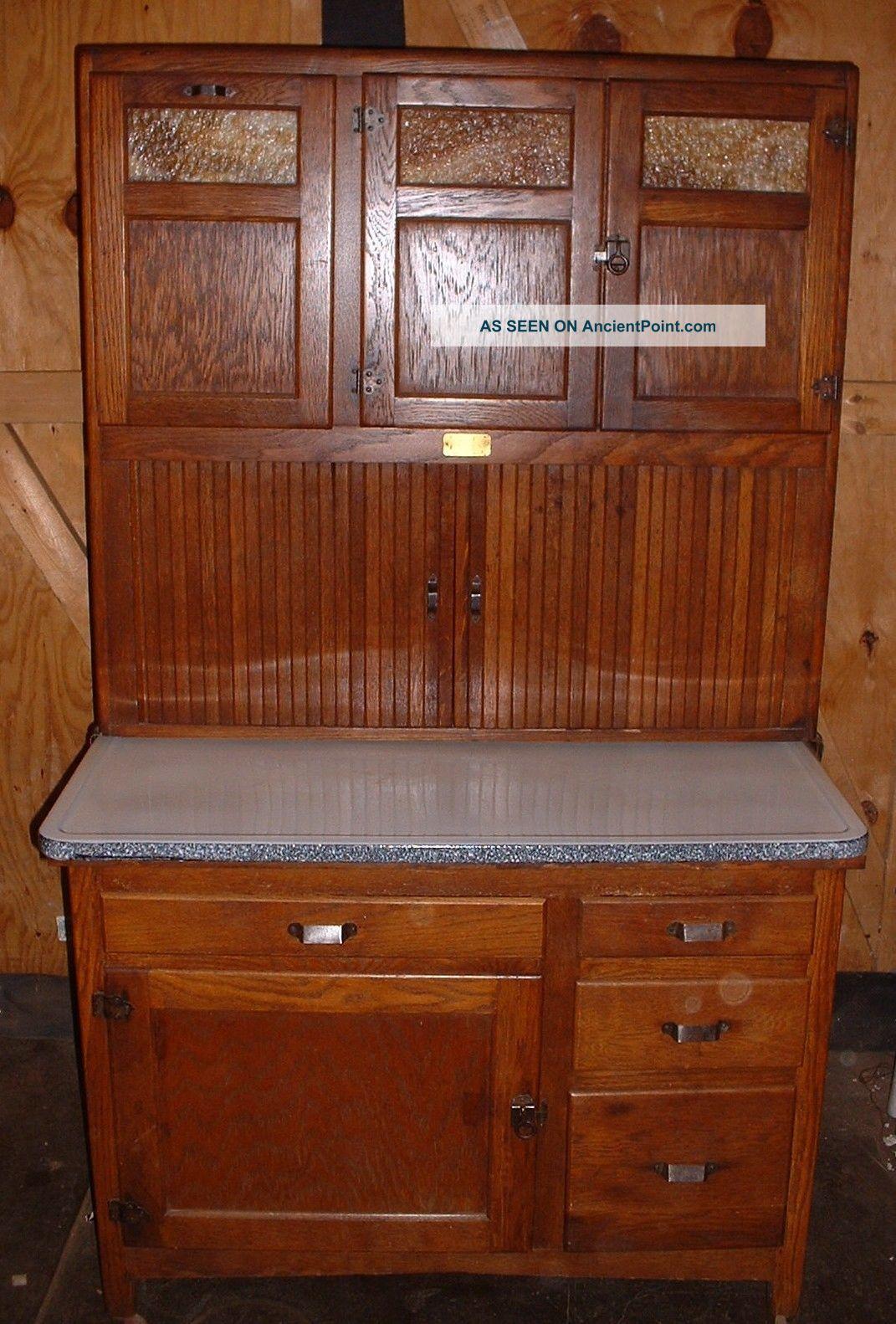 Rare Antique Seller ' S Oak Hoosier Kitchen Cabinet Kitcheneed All In One Slag 1800-1899 photo