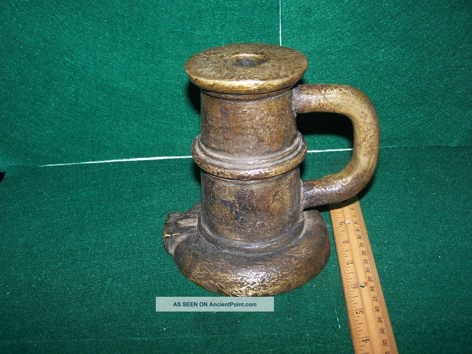 Antique Solid Brass Spanish Colonial Signal Salute Cannon Thundermug