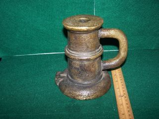 Antique Solid Brass Spanish Colonial Signal Salute Cannon Thundermug photo