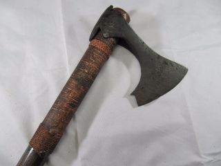 Ancient Viking Iron Bearded Axe 9 - 10 Cent Hand Carved Handle (certificate) photo