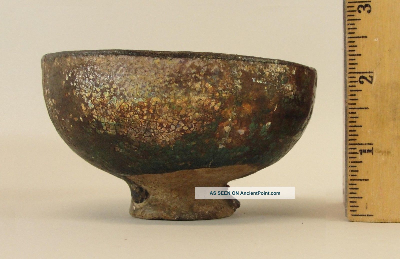 Rare Antique Ancient Persian Islamic Turquoise Pottery Artifact Bowl Nr Middle East photo