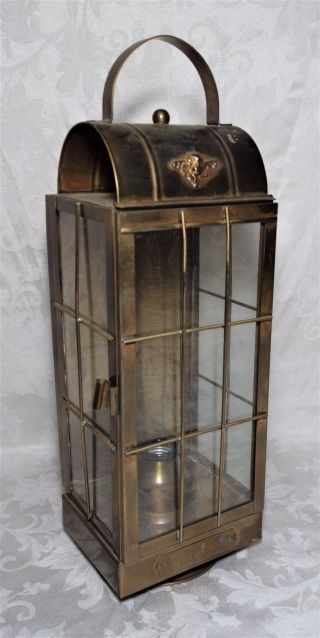 Vintage Indoor Outdoor Light Brass Flying Cloud Lantern Nautical Maritime Decor photo