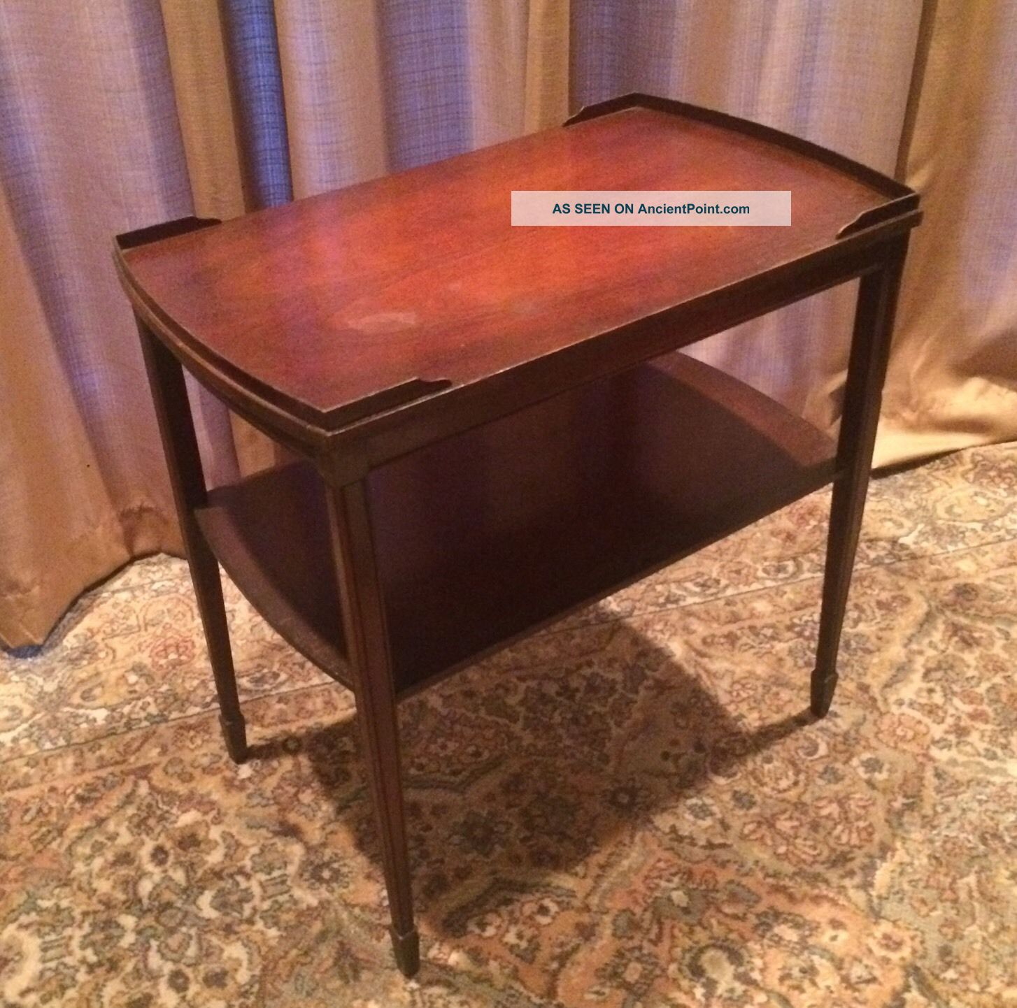 Rare Zangerle & Peterson Chicago Side Table Spade Foot Two Tiered Vintage 411 1900-1950 photo