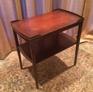 Rare Zangerle & Peterson Chicago Side Table Spade Foot Two Tiered Vintage 411 photo