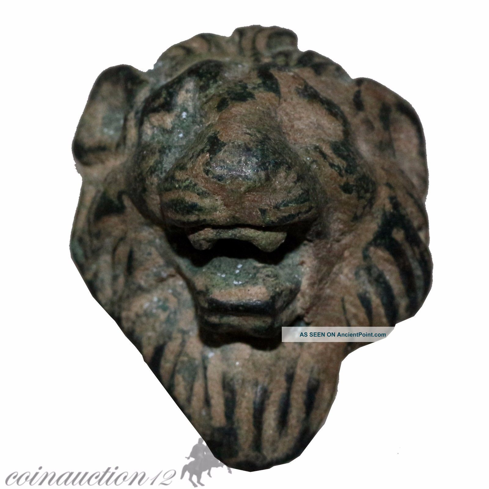 Intact Roman Legionary Bronze Lion Mount Applique Decoration Circa 200 - 300 Ad Roman photo