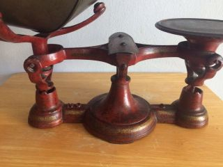 Vintage Cast Iron Chatillon & Sons 3 Balance Scale Paint,  Decal,  Stipes photo