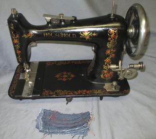 Serviced Antique Floral Household Treadle Sewing Machine Video Minnesota C photo