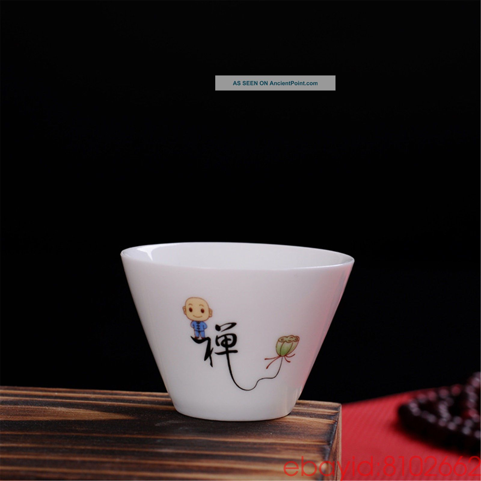 Jingdezhen Small Monk 禅 Blue And White Porcelain Teacup Kung Fu Tea Cup Ceramic Glasses & Cups photo