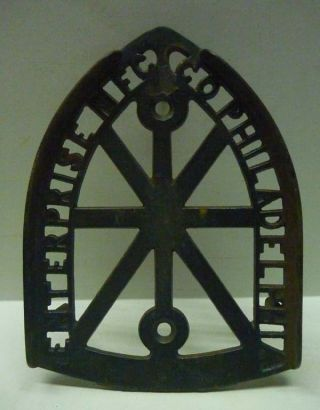 Antique Enterprise Mfg Co Philadelphia Cast Iron Trivet Iron Rest Fine Casting photo