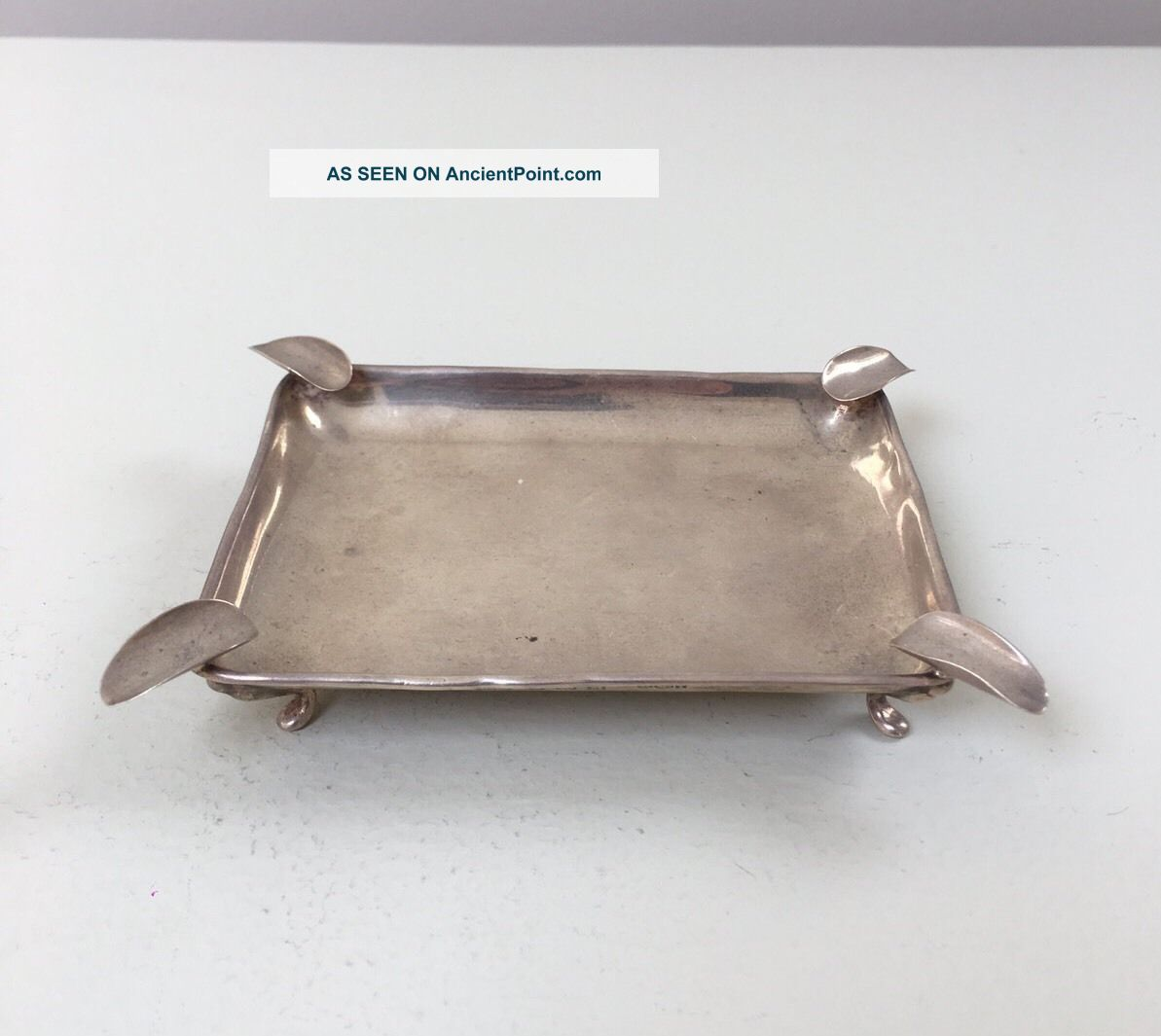 Lovely Solid Silver Ash Tray,  Birm 1936,  51.  2g / 1.  81oz Ash Trays photo