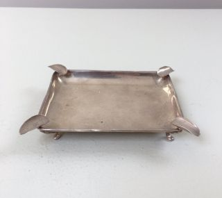 Lovely Solid Silver Ash Tray,  Birm 1936,  51.  2g / 1.  81oz photo