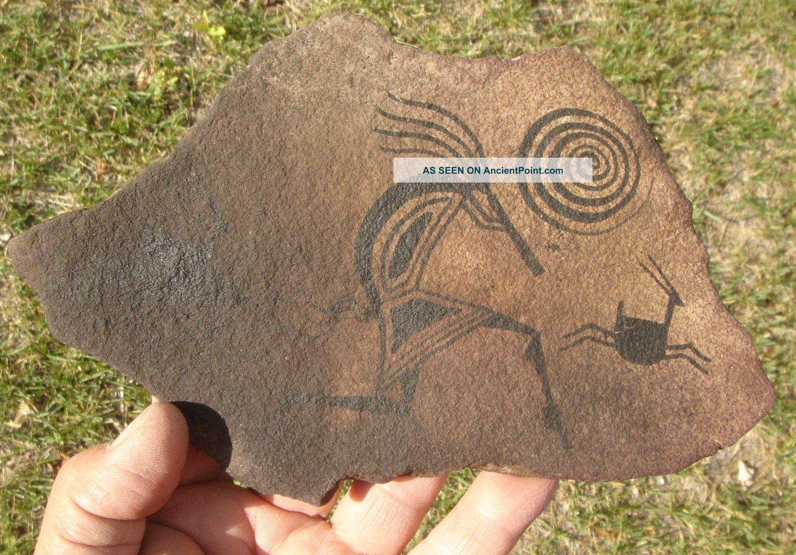 Painted Glyph Slab,  North Western Mexico Native American photo
