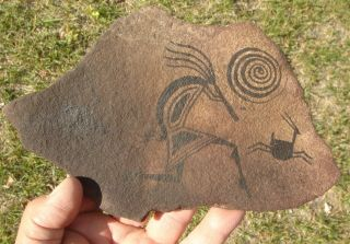 Painted Glyph Slab,  North Western Mexico photo