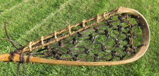 Antique Mohawk Indian Made Lacrosse Stick Lacrosse Raquet Rare photo