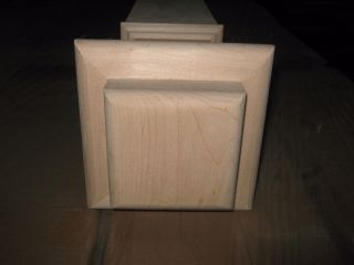 Lj Smith Maple Staircase 4 1/2 X 55 Newel Post 4176 - Solid W/sleeve - Newnbox photo