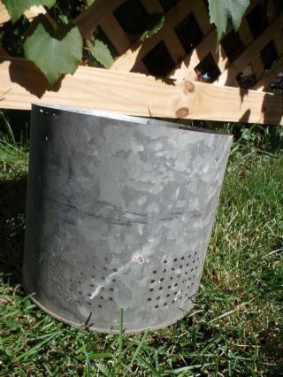 Galvanized Bucket Insert Barn Fresh Farm House Distressed 7.  5