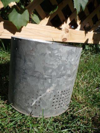 Galvanized Bucket Insert Barn Fresh Farm House Distressed 7.  5