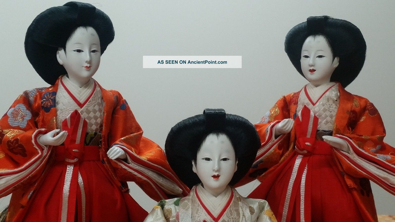 Hina Hinamatsuri Hinaningyo San - Nin Kanjo Court Lady Dolls,  Exc. Dolls photo