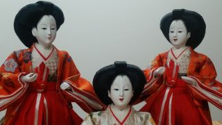Hina Hinamatsuri Hinaningyo San - Nin Kanjo Court Lady Dolls,  Exc. photo