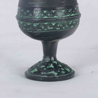 Chinese Bornze Handwork Carved Hollow Incense Burner Qt020 photo