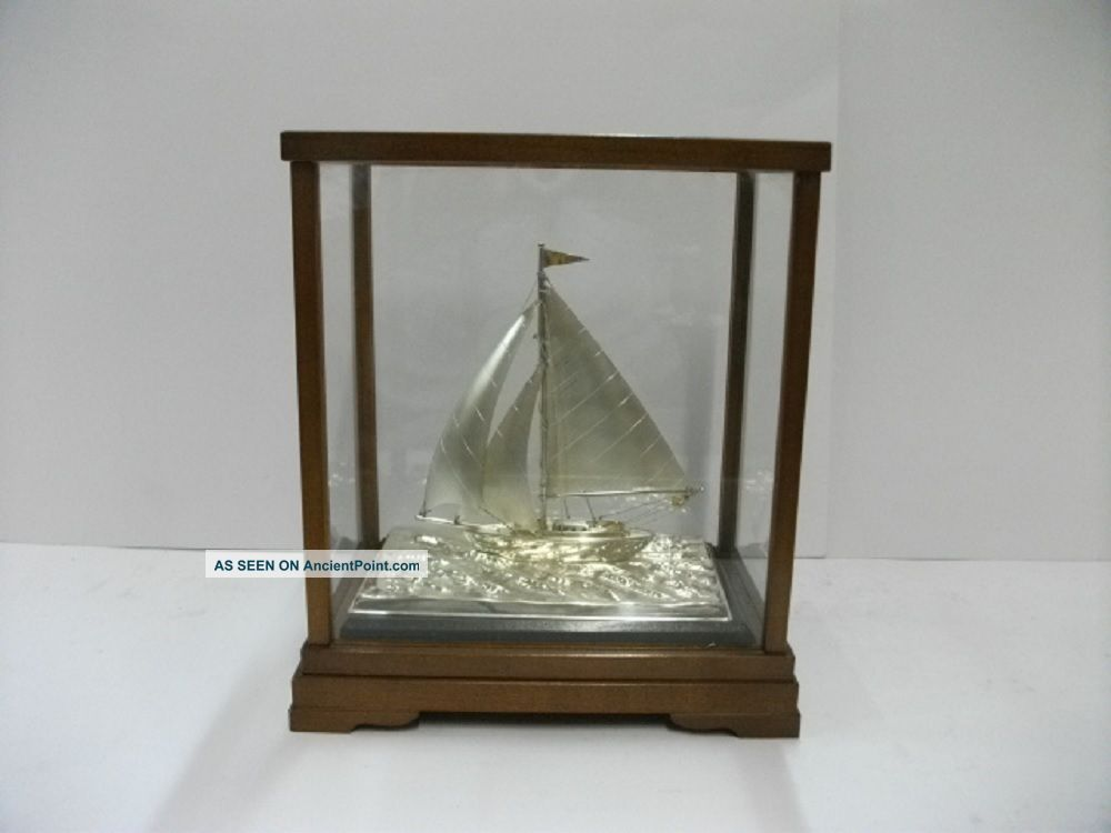 The Sailboat Of Silver970 Of Japan.  50g/ 1.  76oz.  Japanese Antique Other Antique Sterling Silver photo