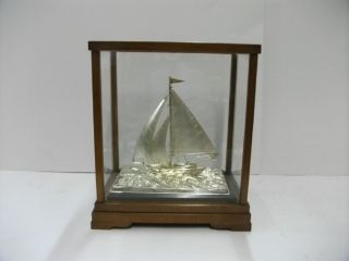 The Sailboat Of Silver970 Of Japan.  50g/ 1.  76oz.  Japanese Antique photo