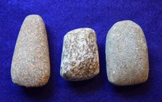 3 Medium Sized Hard Stone Celts From The Sahara Neolithic photo