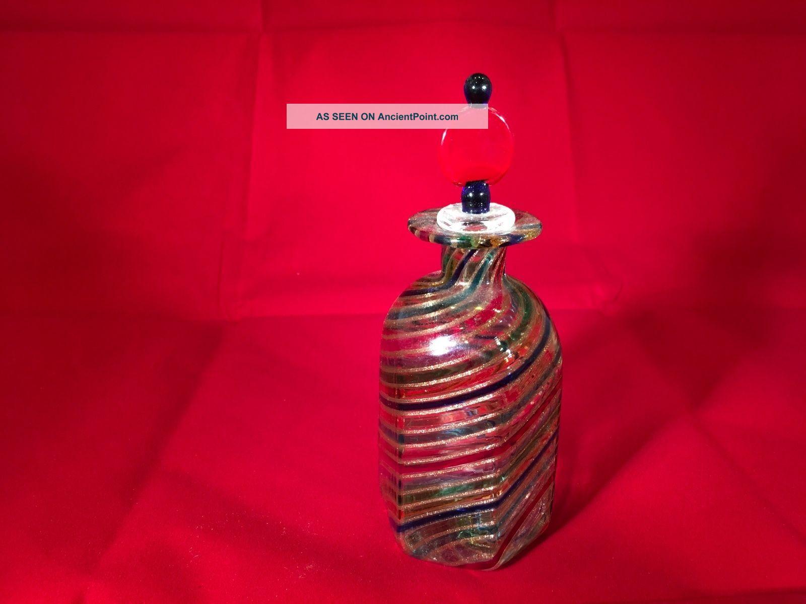 Glass Candy Swirl Perfume Bottle Vintage Perfume Bottles photo