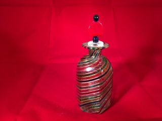 Glass Candy Swirl Perfume Bottle Vintage photo