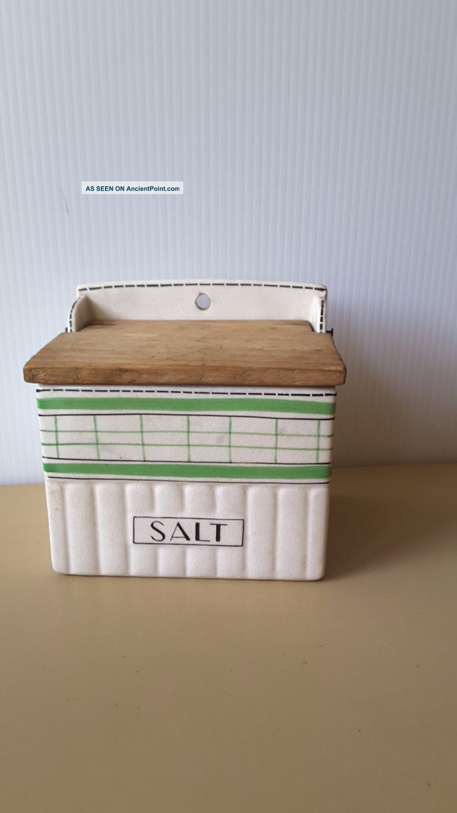 Vintage Porcelain Salt Cellar / Box Mauranto Ware Japan 1950 ' S Kitchen Tools photo